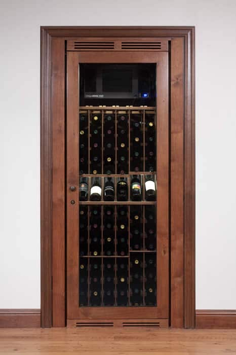 Vinotheque Closet Wine Cabinet Blue Grouse Wine Cellar