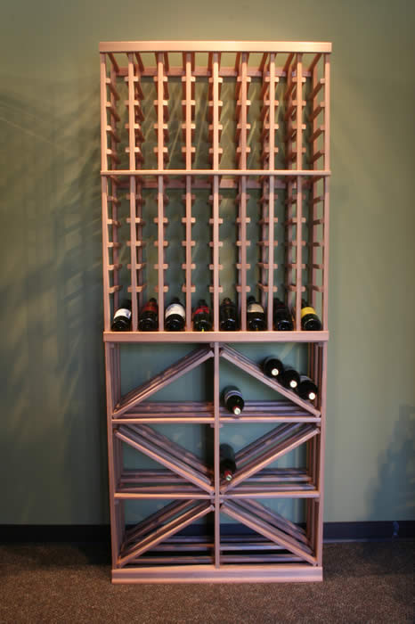 modular wood wine rack