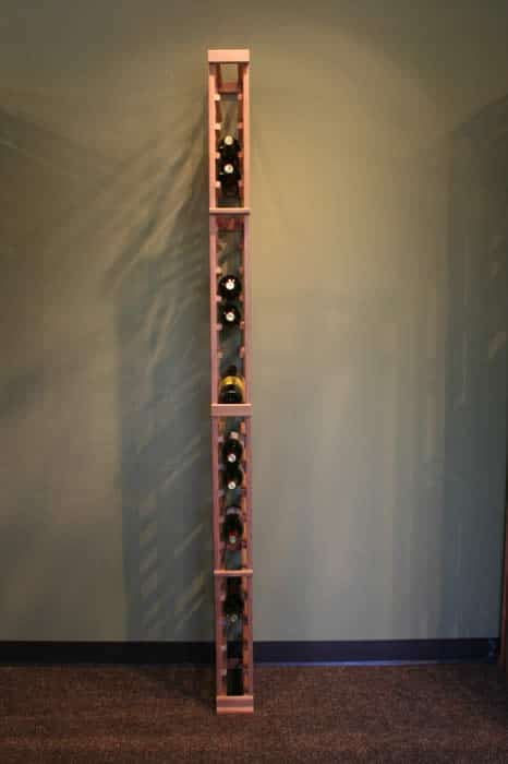 single column wine rack