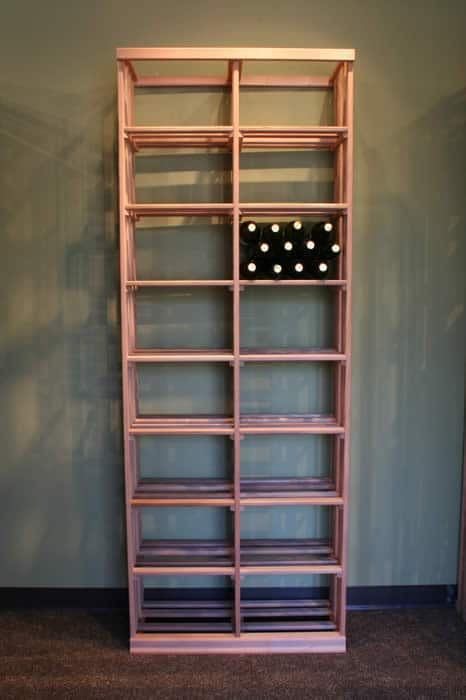 12 bottle bins wood wine rack