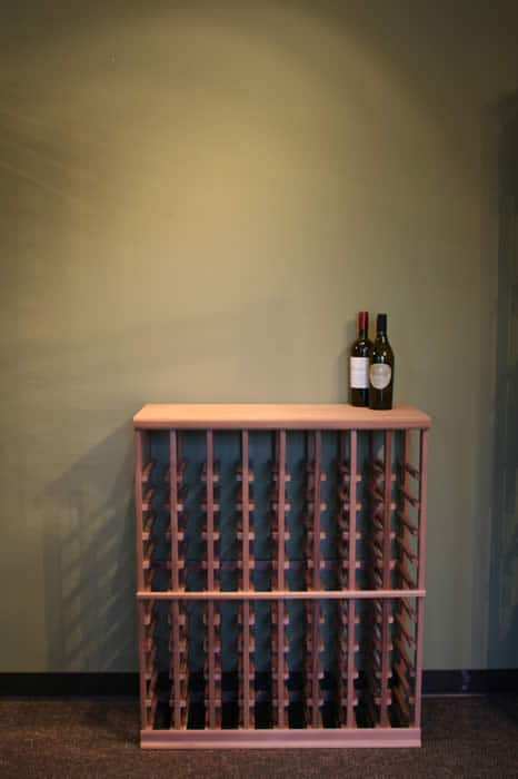 half height wine rack