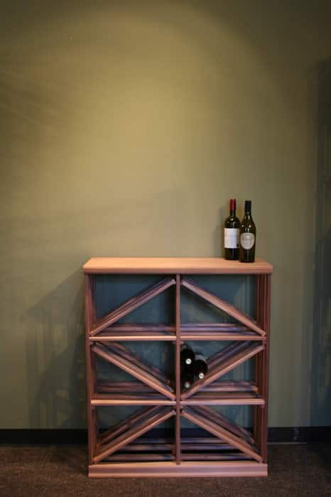 half height modular wine racking