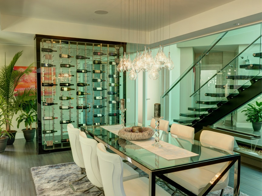 All Glass Wine Cellar In West Vancouver
