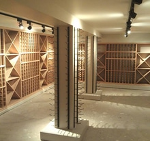 Glassed in Contemporary Vancouver Wine Cellar Navigation Image