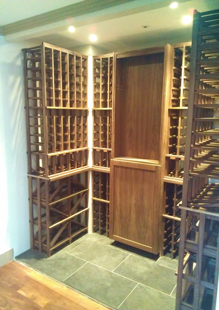Custom Wine Cellar - Almost Finished, Before Glass Wall Installation