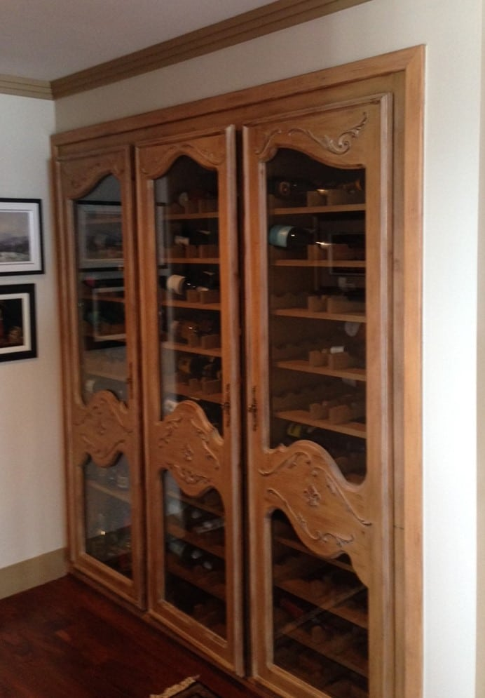 Old Wood Racking Wine Cabinet Style Wine Cellar Before