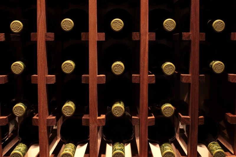 Traditional Wine Racking in Custom Wine Cellar
