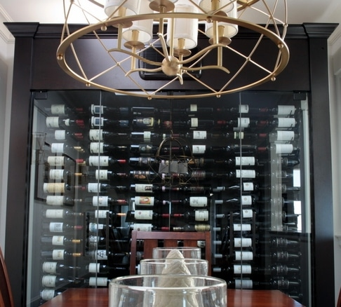 Custom Glass Wine Cabinet West Vancouver