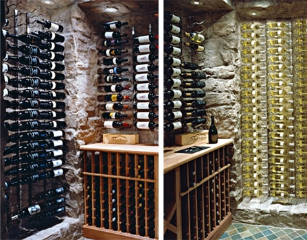 Vintageview Wall Mounted Wine Racks Blue Grouse Wine Cellar