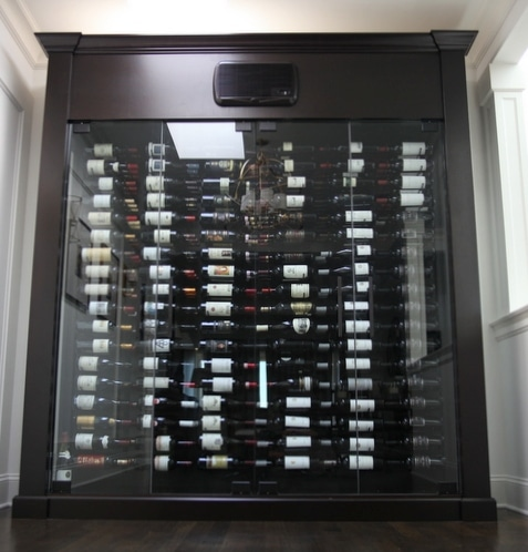 West Vancouver Custom Glass Wine Cabinet